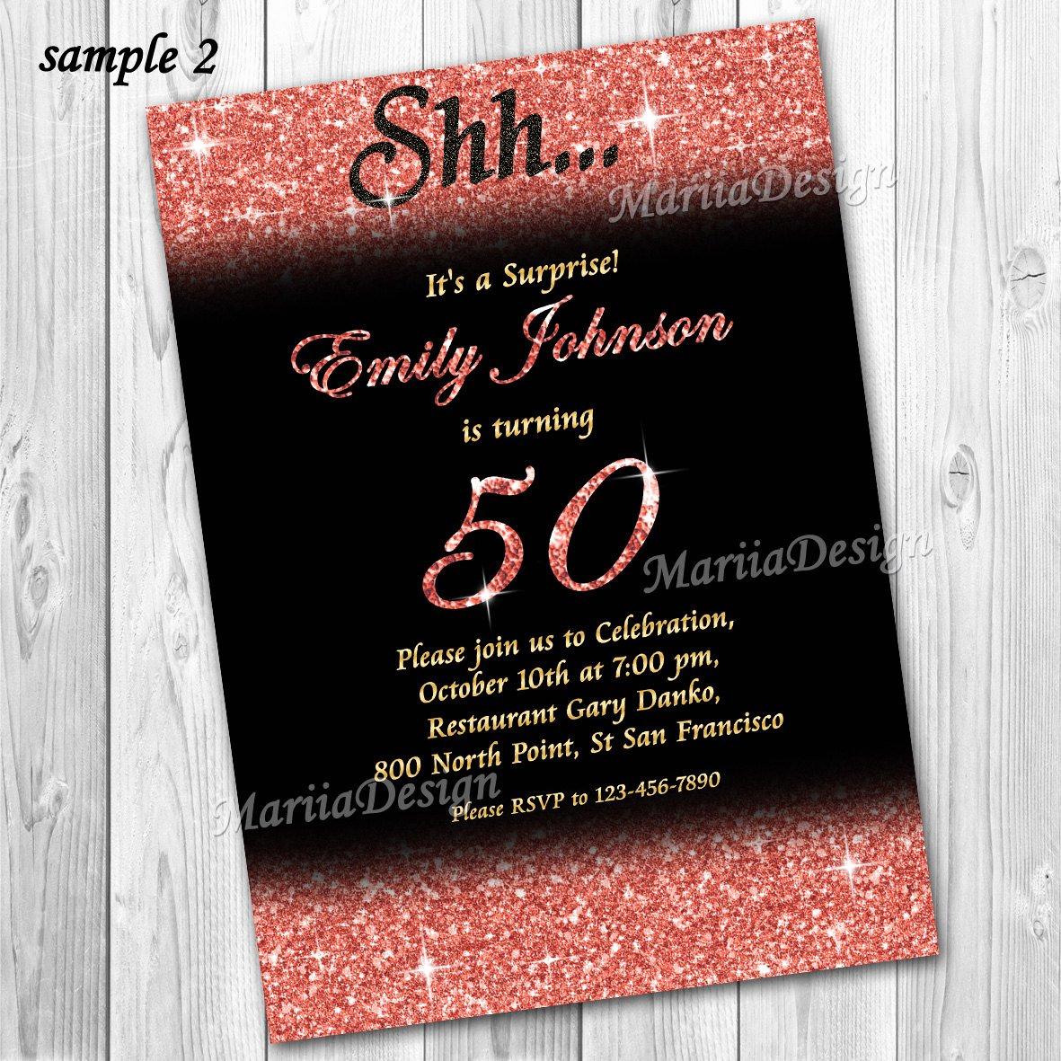 60th Birthday Invitation Ideas Best Of 50th Birthday Invitation 60th Birthday Invitation Gold