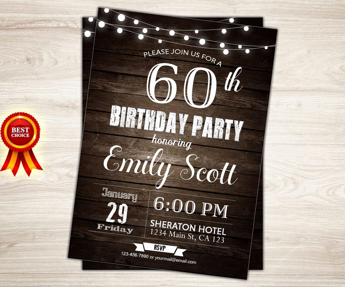 60th Birthday Invitation Ideas Best Of Surprise 60th Birthday Invitation Man Surprise Birthday Party