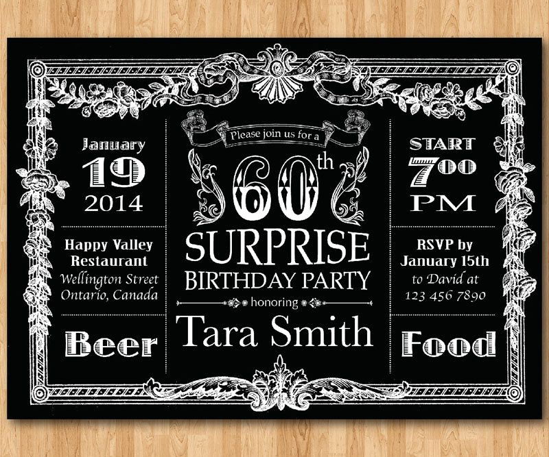 60th Birthday Invitation Ideas Best Of Vintage 60th Birthday Invitations for Men