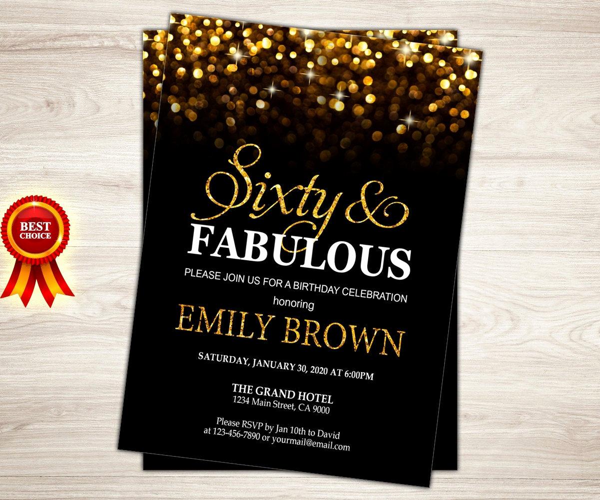 60th Birthday Invitation Ideas Lovely Surprise 60th Birthday Invitation for Women Sixty and