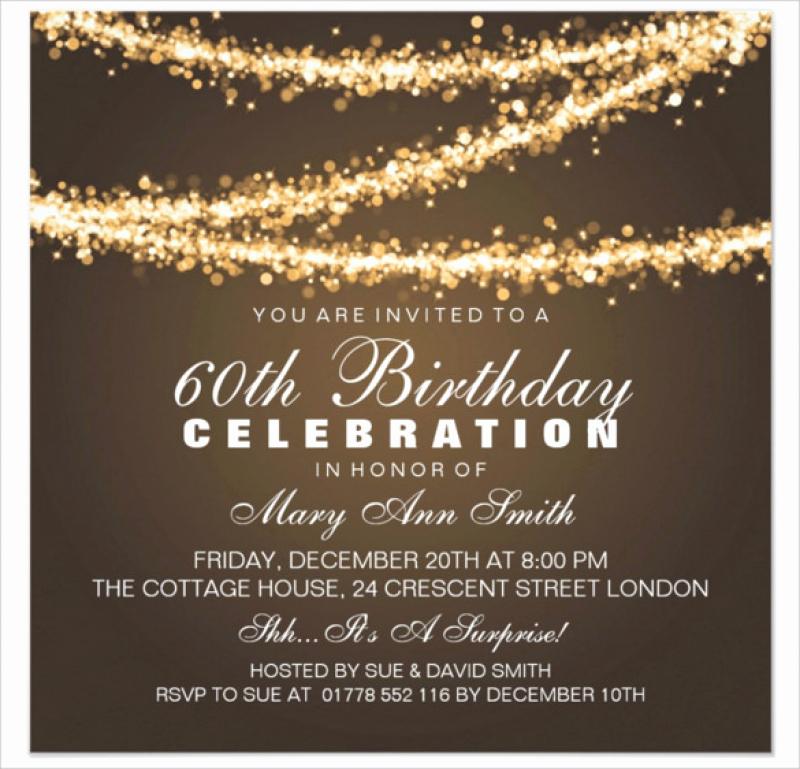 60th Birthday Invitation Ideas Luxury Free 60th Birthday Invitations Templates — Birthday