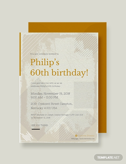 60th Birthday Invitation Template Awesome Free 60th Birthday Invitation Template Download 517