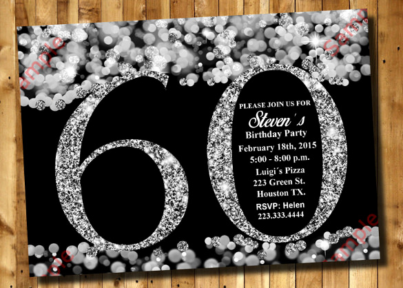 60th Birthday Invitation Template Elegant 49 Birthday Invitation Templates Psd Ai Word