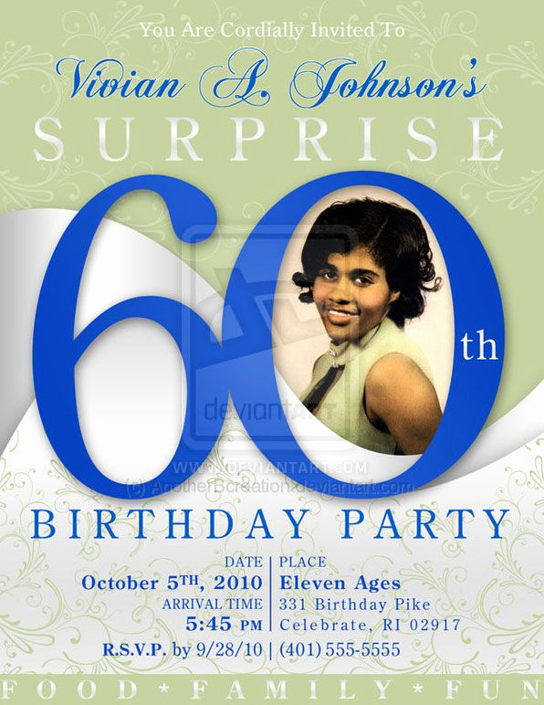 60th Birthday Invitation Template Fresh 60 Birthday Party Invites