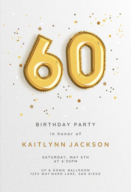 60th Birthday Invitation Template Fresh 60th Birthday Invitation Templates Free