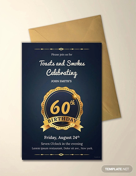 60th Birthday Invitation Template Lovely 26 60th Birthday Invitation Templates – Psd Ai