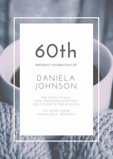 60th Birthday Invitation Template Lovely Customize 924 60th Birthday Invitation Templates Online