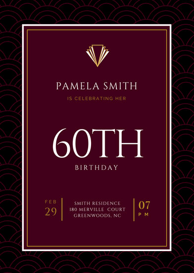 60th Birthday Invitation Template Luxury Customize 924 60th Birthday Invitation Templates Online