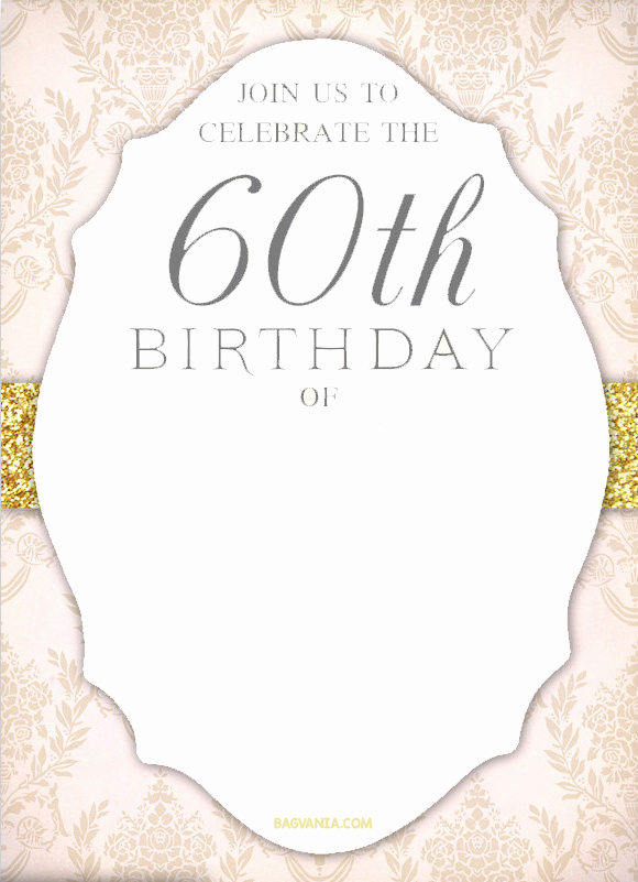 60th Birthday Invitation Template Unique Free Printable 60th Birthday Invitation Templates