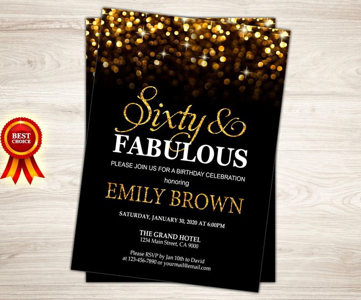60th Birthday Invitation Template Unique Surprise 60th Birthday Party Invitations Party – Free