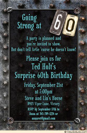 60th Birthday Invitation Wording Awesome Motorcycle theme 60th Birthday Invite Ideas