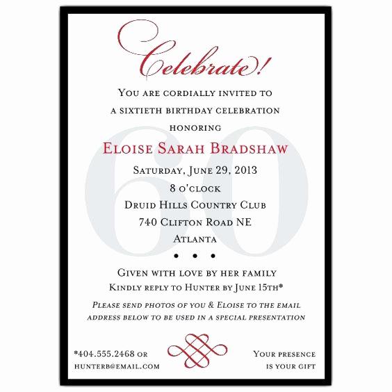 60th Birthday Invitation Wording Inspirational Pinterest • the World's Catalog Of Ideas