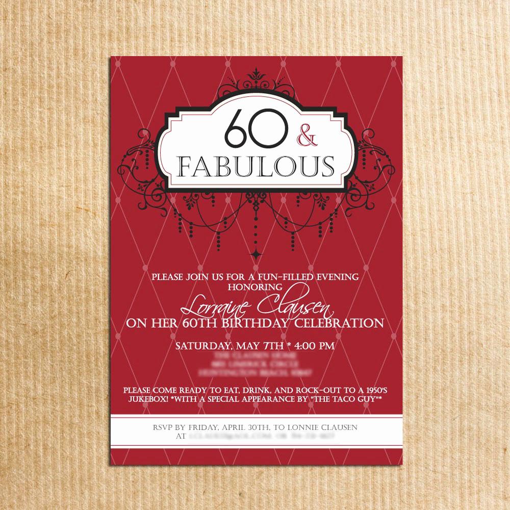 60th Birthday Invitation Wording Unique 20 Ideas 60th Birthday Party Invitations Card Templates