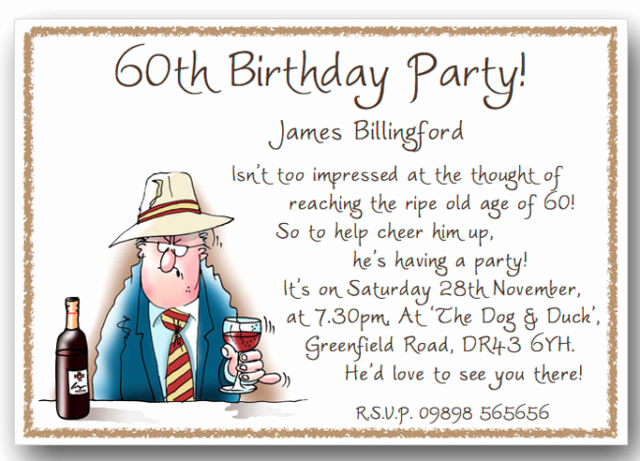 60th Birthday Party Invitation Wording Fresh Funny 50th Birthday Invitations Wording Ideas