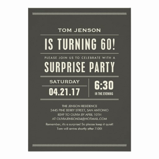 60th Birthday Party Invitation Wording Fresh Surprise 60th Birthday Invitations 13 Cm X 18 Cm