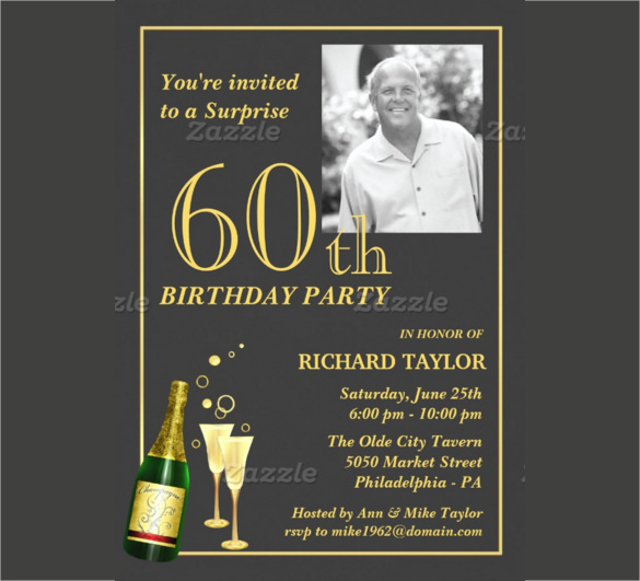 60th Birthday Party Invitation Wording Luxury 26 60th Birthday Invitation Templates – Psd Ai