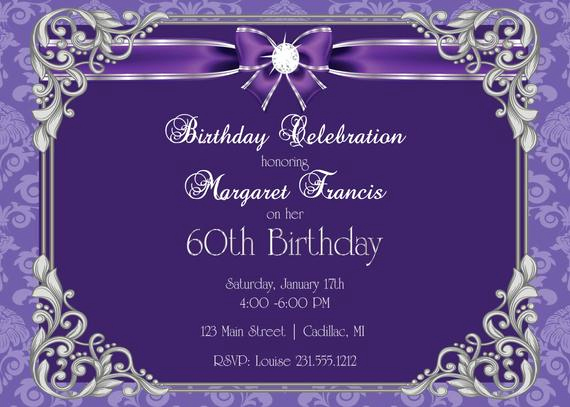 60th Birthday Party Invitation Wording Luxury 60th Birthday Invitation 60th Birthday Party Invitation