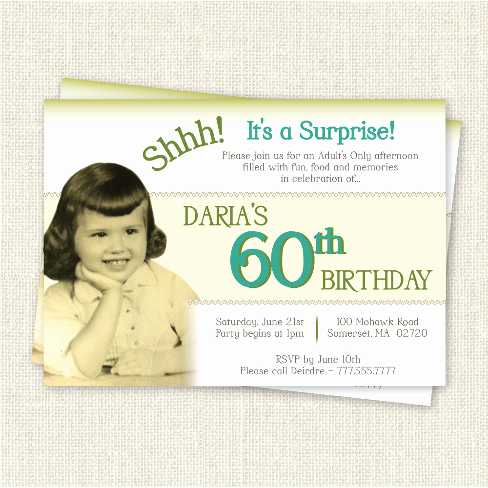 60th Birthday Party Invitation Wording New Surprise 60th Birthday Invitation Digital Printable File