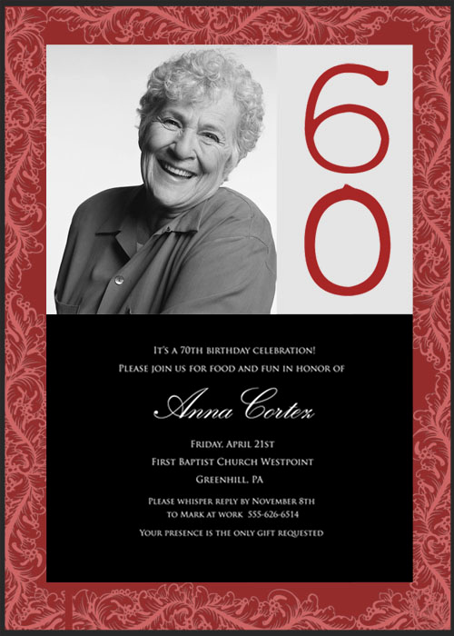 60th Birthday Party Invitation Wording Unique 60th Birthday Party Invitations – Bagvania Free Printable