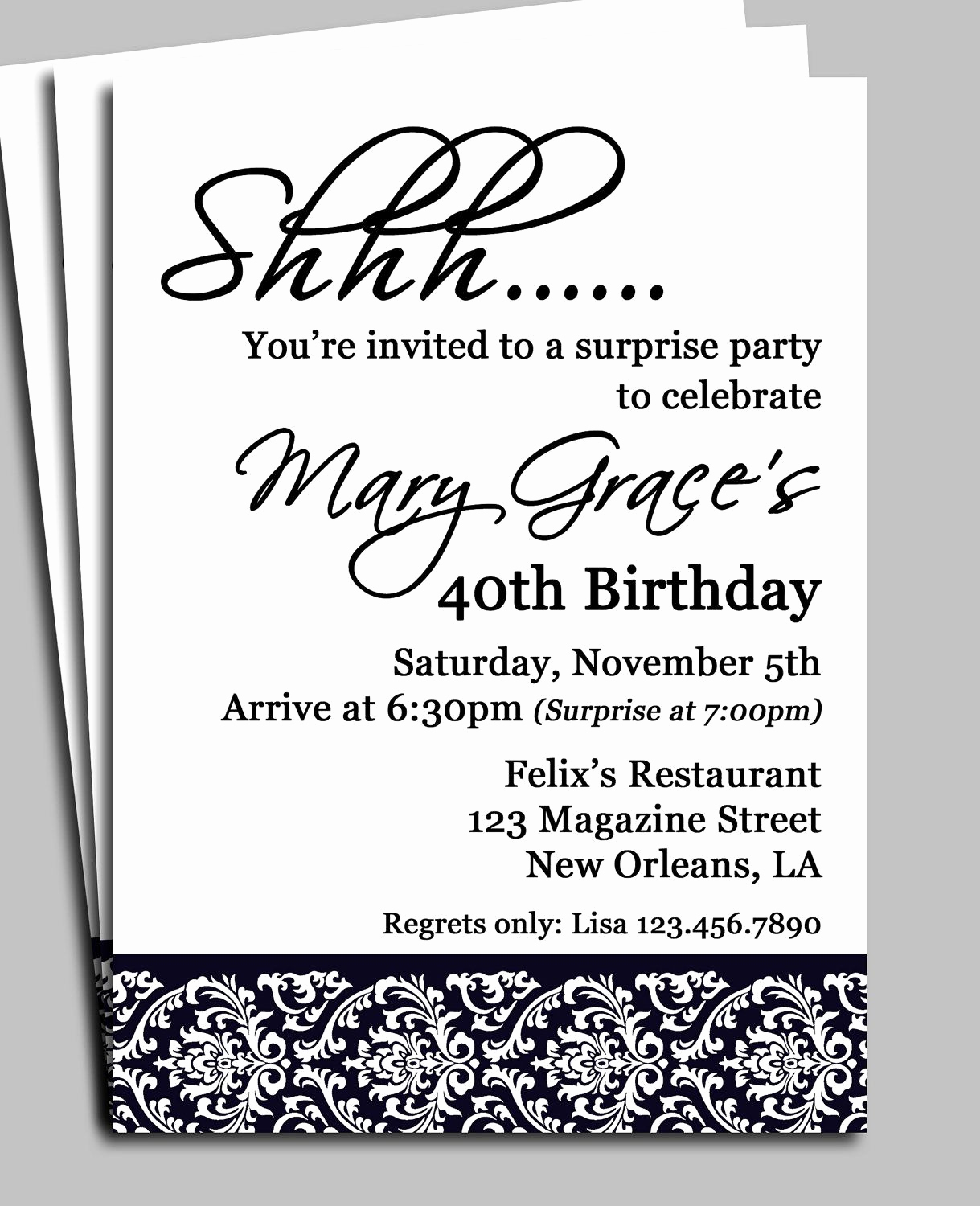 60th Birthday Party Invitation Wording Unique Invitation for Surprise Birthday Party Wording