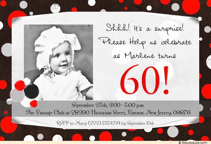 60th Birthday Party Invitation Wording Unique Surprise 60th Birthday Party Invitations Wording
