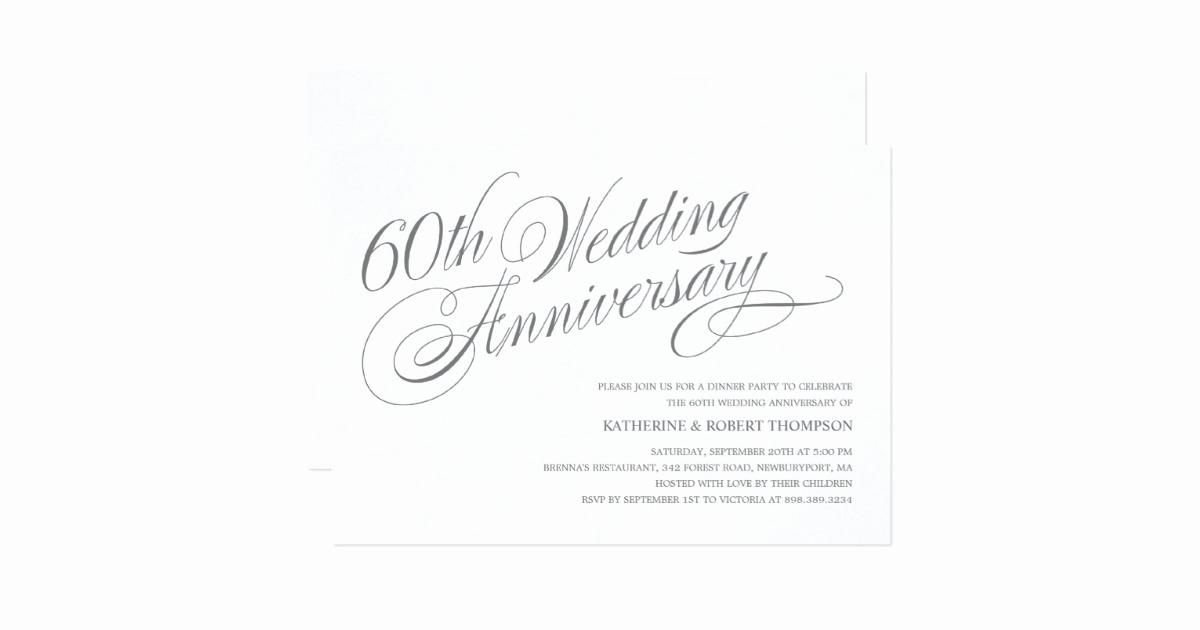 60th Wedding Anniversary Invitation Wording Awesome 60th Wedding Anniversary Invitations