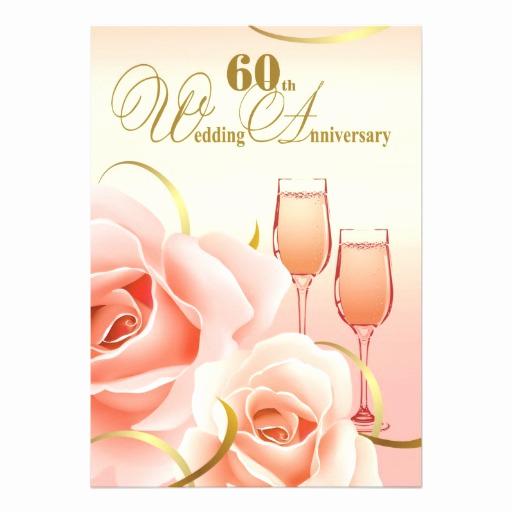 "60th Wedding Anniversary Invitation Wording Awesome 60th Wedding Anniversary Party Invitations 5"" X 7"