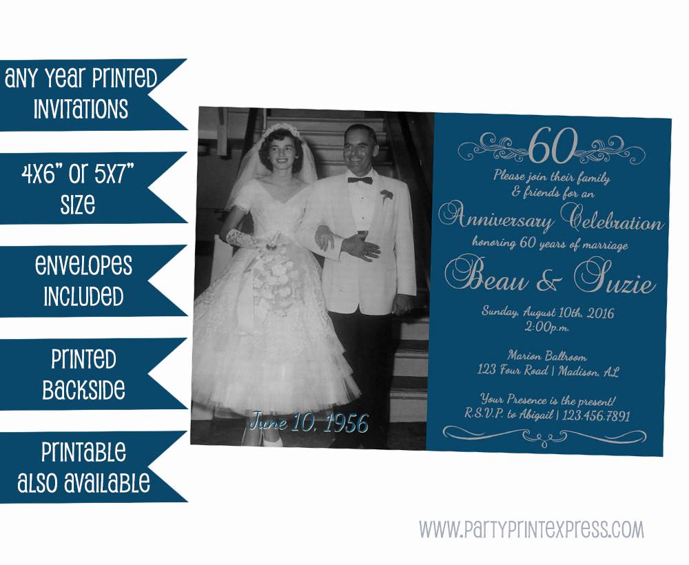 60th Wedding Anniversary Invitation Wording Beautiful 60th Anniversary Invitation 60th Wedding Anniversary