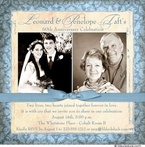 60th Wedding Anniversary Invitation Wording Best Of 60th Anniversary Invitation Old Fashioned Love Couple
