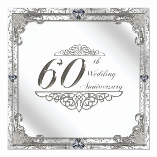 60th Wedding Anniversary Invitation Wording Best Of 60th Wedding Anniversary Invitation Card