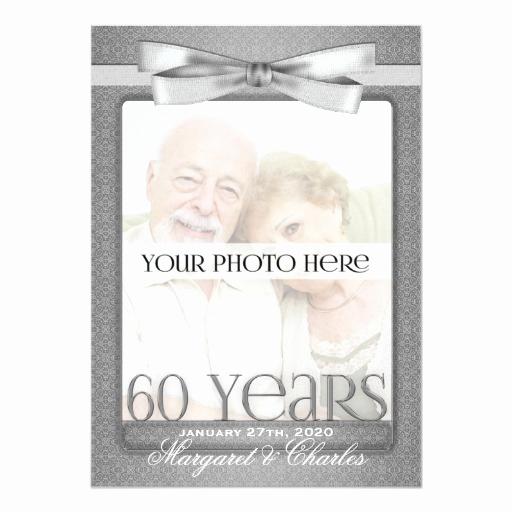 60th Wedding Anniversary Invitation Wording Elegant 60th Diamond Wedding Anniversary Invitations