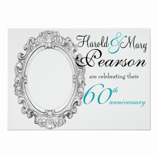 60th Wedding Anniversary Invitation Wording Elegant 60th Wedding Anniversary Invitation
