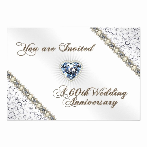 "60th Wedding Anniversary Invitation Wording Elegant 60th Wedding Anniversary Rsvp Invitation Card 3 5"" X 5"
