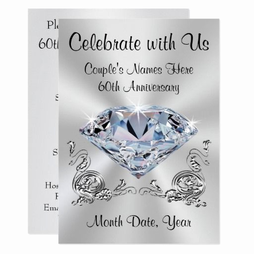 60th Wedding Anniversary Invitation Wording New 124 Best Images About Diamond Wedding Invitations On