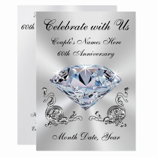 60th Wedding Anniversary Invitation Wording New Personalized 60th Wedding Anniversary Invitations
