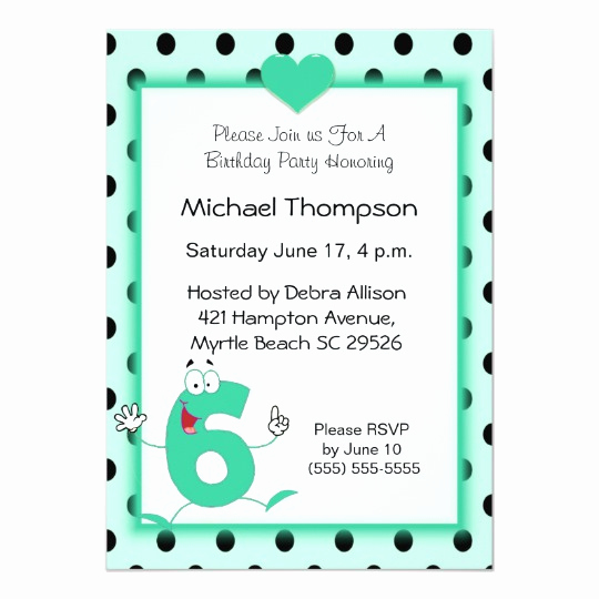 6th Birthday Invitation Wording Awesome 6th Birthday Party Invitations