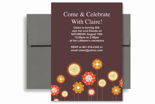 6th Birthday Invitation Wording Elegant Flowers Background Girl Sixth Birthday Invitation Wording