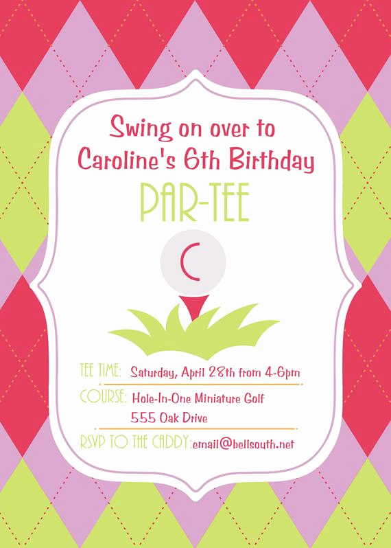 6th Birthday Invitation Wording Inspirational 6th Birthday Par Tee