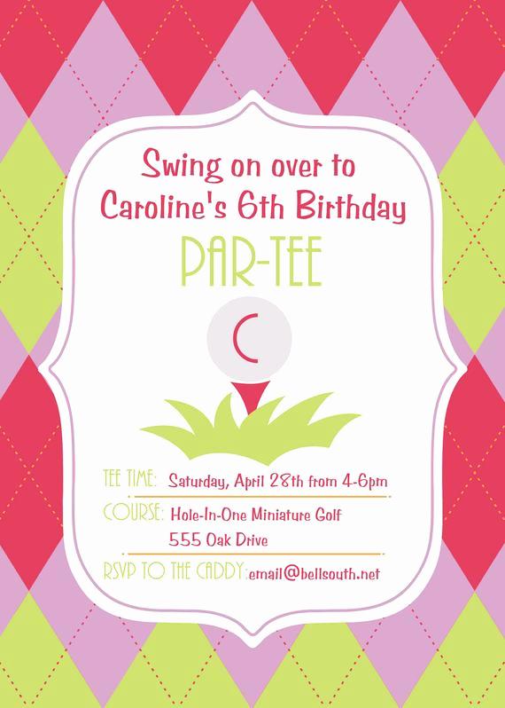 6th Birthday Invitation Wording Inspirational 6th Birthday Par Tee