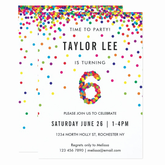 6th Birthday Invitation Wording New Rainbow 6th Birthday Party Sixth Birthday Invitation