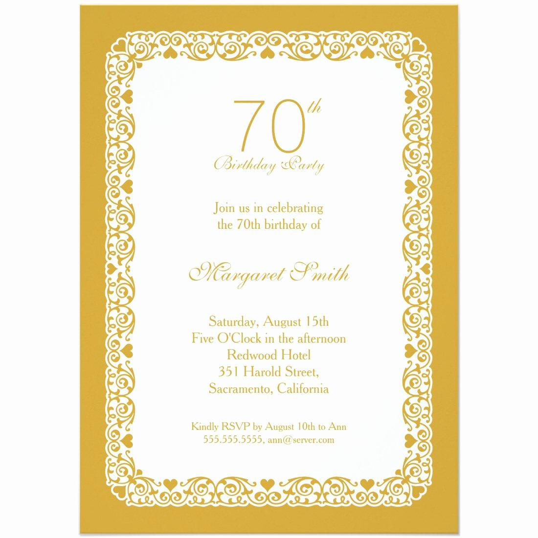 70th Birthday Invitation Ideas Awesome 70th Birthday Invitation Ideas