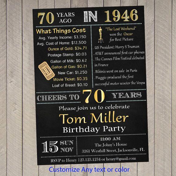 70th Birthday Invitation Ideas Best Of 70th Birthday Invitation Surprise 70th Birthday by