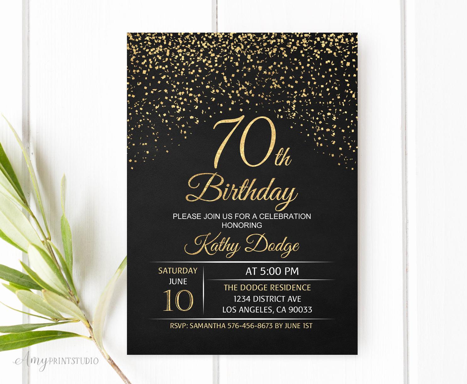 70th Birthday Invitation Ideas Best Of Ideas Immaculate Ideas for 70th Birthday Invitations