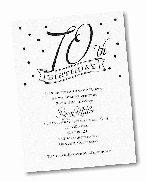 70th Birthday Invitation Ideas Fresh 17 Best Ideas About 70th Birthday Invitations On Pinterest
