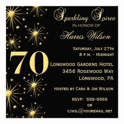 70th Birthday Invitation Ideas Fresh 70th Birthday Party Invitations Crafts