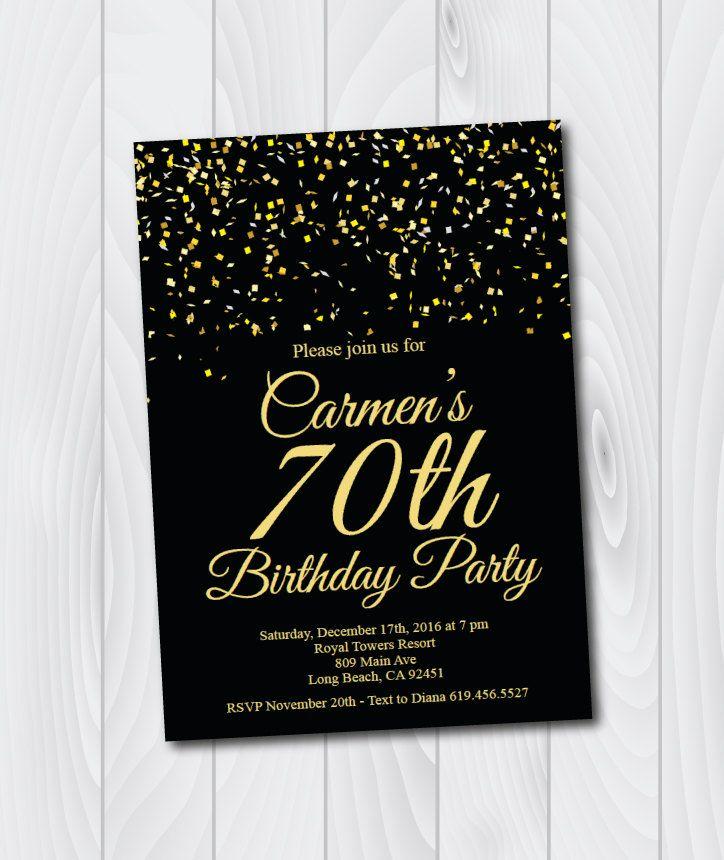 70th Birthday Invitation Ideas Inspirational 1000 Ideas About 70th Birthday Card On Pinterest