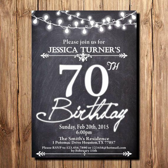 70th Birthday Invitation Ideas New 15 70th Birthday Invitations Design and theme Ideas