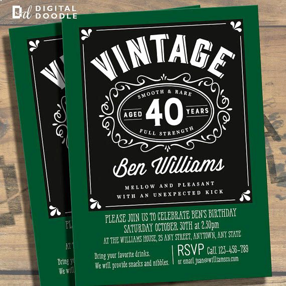70th Birthday Invitation Ideas Unique Awesome Free Template 40th Birthday Party Invitations