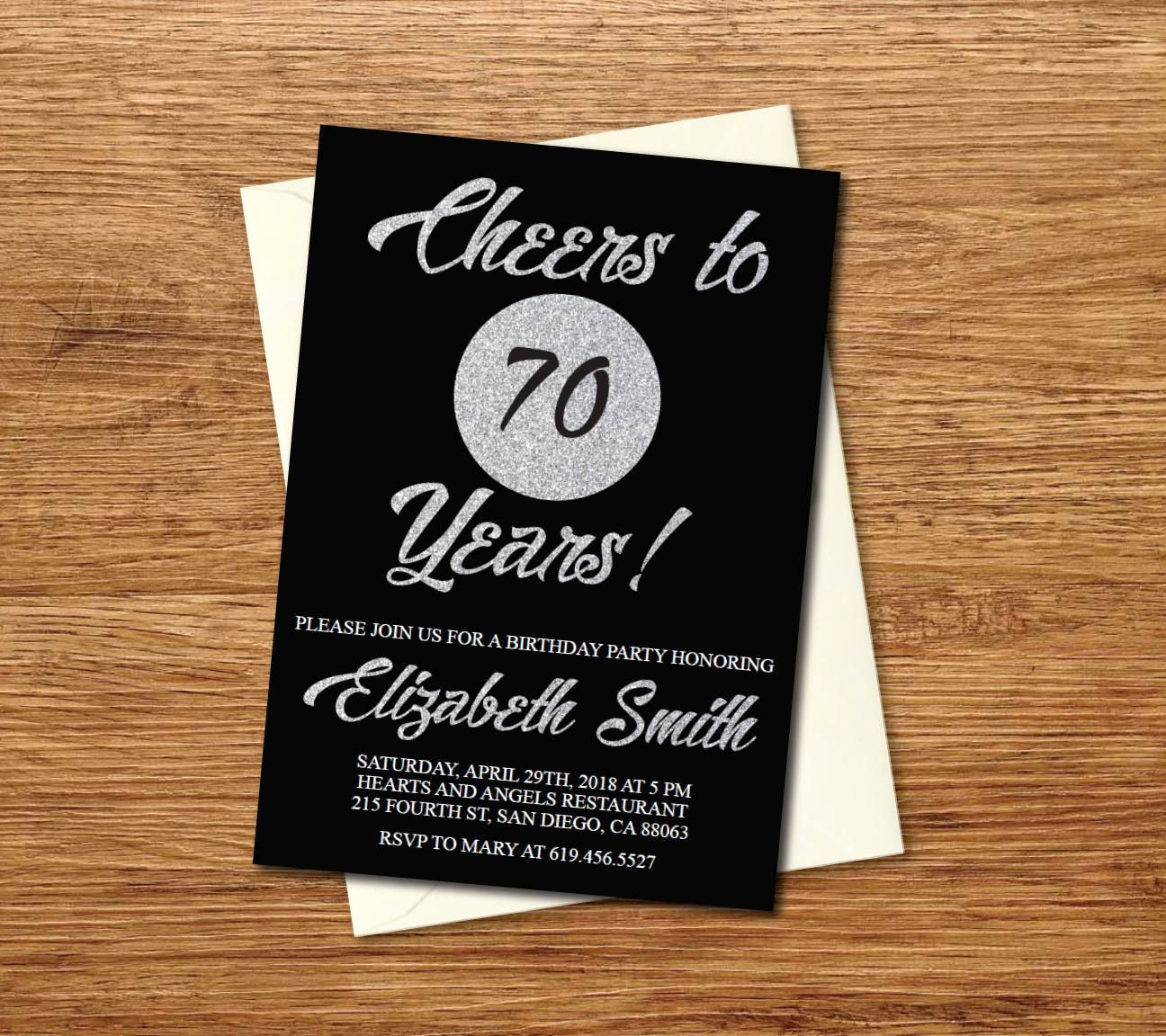immaculate ideas for 70th birthday invitations
