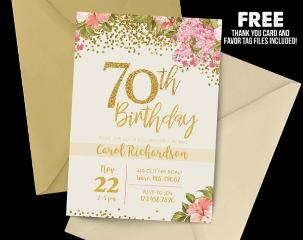 70th Birthday Invitation Templates Free Best Of 70th Birthday Invitation Cards Free